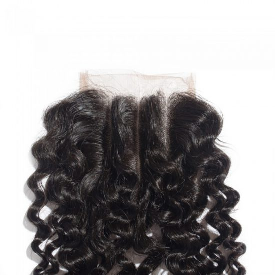 4x4 Curly Closure Front - 3 Parted