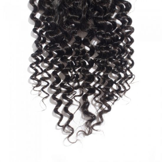 4x4 Curly Closure Bottom - 3 Parted