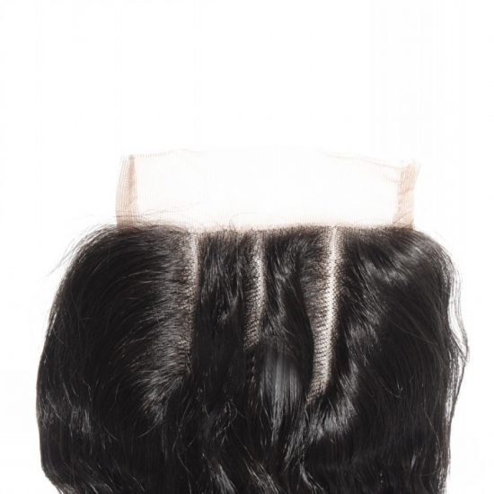 4x4 Loose Wavy Closure Detail - 3 Parted